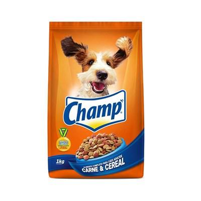 Ração Champ para cachorros adultos carne e cereais 1,0kg