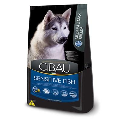 Ração Cibau Fish para Cães Adultos Sensíveis de Raças Médias e Grandes 12kg