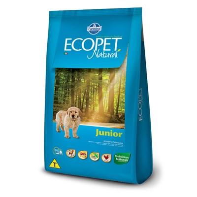 Ração Ecopet Natural Junior para cachorros filhotes frango 3,0kg