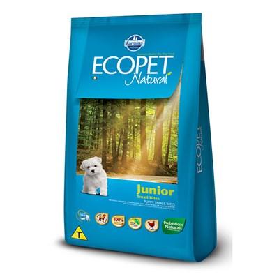 Ração Ecopet Natural Junior para cachorros filhotes small bites frango 1,0kg