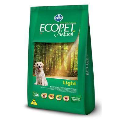 Ração Ecopet Natural Light para Cães Adultos 15kg