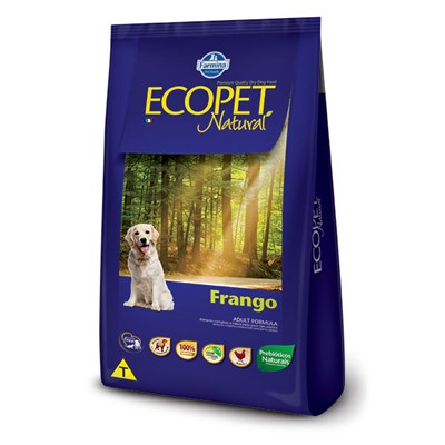 Ração Ecopet Natural para cachorros adultos frango 20,0kg