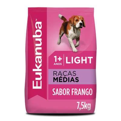 Ração Eukanuba Light para Cães Adultos de Raças Médias 7,5kg