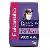 Ração Eukanuba para Cães Filhotes de Raças Pequenas 3kg