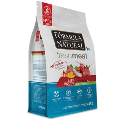 Ração Formula Natural Fresh Meat Cães Adultos Raças Mini e Pequenas Cordeiro