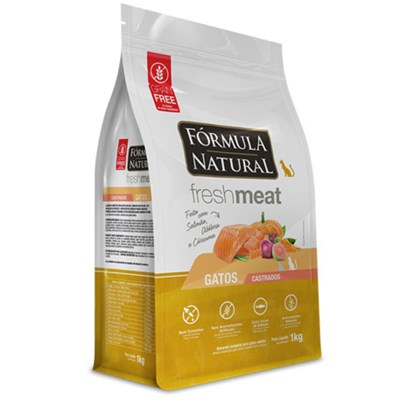 Ração Formula Natural Fresh Meat Gatos Castrados Salmão