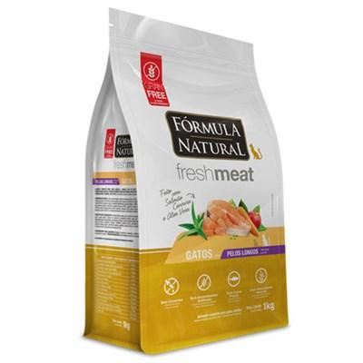 Ração Formula Natural Fresh Meat Gatos Pelos Longos Salmão