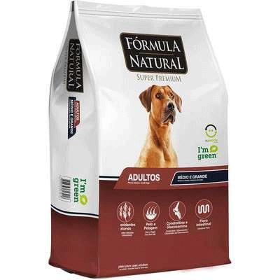 Ração Fórmula Natural para Cães Adultos de Raças Médias e Grandes 15kg