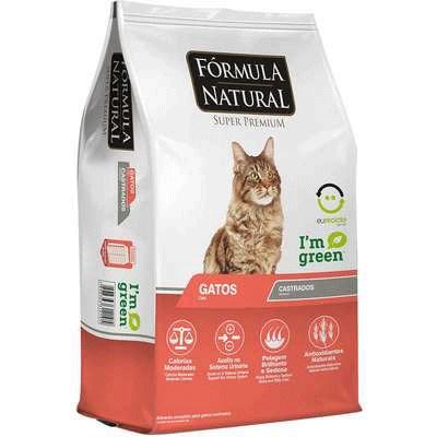 Ração Fórmula Natural para Gatos Adultos Castrados 7kg