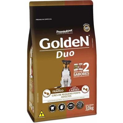 Ração Golden Duo para Cães Adultos de Raças Pequenas Frango Carne 3kg