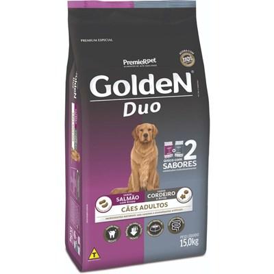 Ração Golden Duo para Cães Adultos Salmão, Ervas/Cordeiro, Arroz 15kg