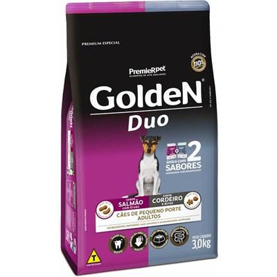 Ração Golden Duo para Cães Adultos Salmão, Ervas/Cordeiro, Arroz 3kg