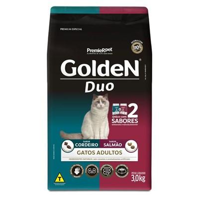 Ração GoldeN Formula Duo gatos adultos salmão & cordeiro 3,0kg