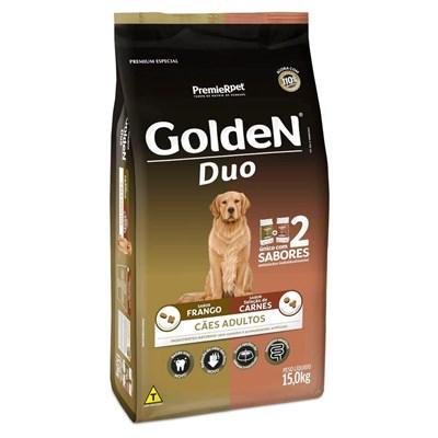 Ração GoldeN Formula Duo para cachorros adultos frango & carne 15,0kg
