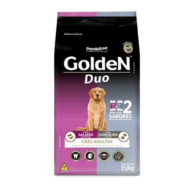 Ração GoldeN Formula Duo para cachorros adultos salmão com ervas & cordeiro e arroz 15,0kg