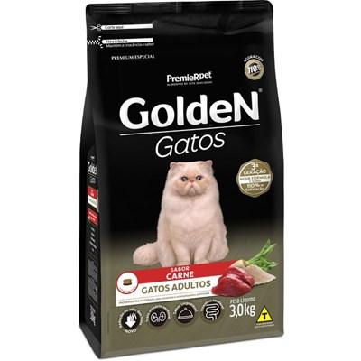 Ração GoldeN Formula gatos adultos carne 3,0kg