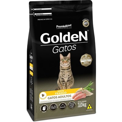 Ração GoldeN Formula gatos adultos frango 3,0kg
