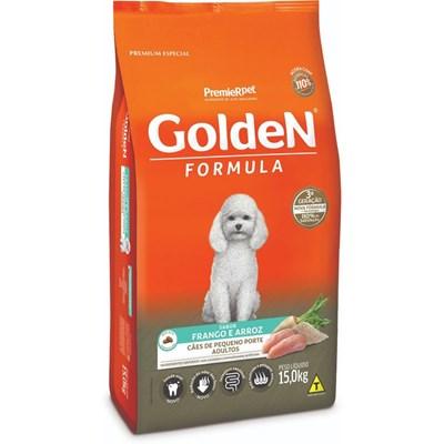 Ração GoldeN Formula raças pequenas cachorros adultos frango e arroz mini bits 15,0kg