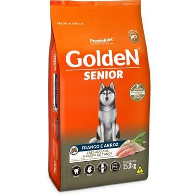 Ração GoldeN Formula Senior para cachorros adultos frango e arroz 15,0kg