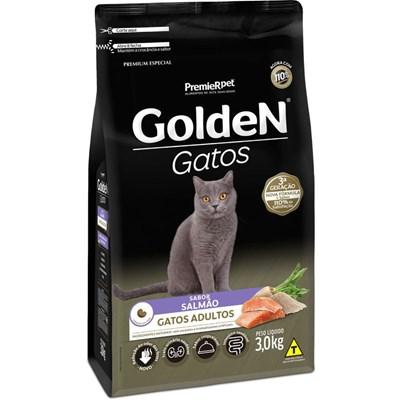 Ração Golden para Gatos Adultos Salmão 3kg