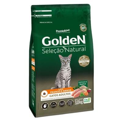 Ração Golden Seleção Natural para Gatos Adultos 3kg