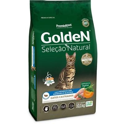 Ração Golden Seleção Natural para Gatos Adultos Castrados Abóbora 10,1 kg