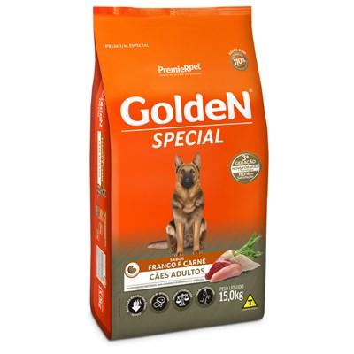 Ração GoldeN Special cachorros adultos frango e carne 15,0kg