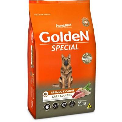 Ração GoldeN Special cachorros adultos frango e carne 20,0kg