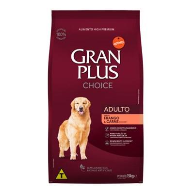 Ração GranPlus Choice cachorros adultos frango e carne 15,0kg