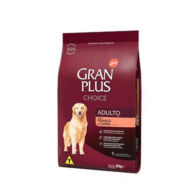 Ração GranPlus Choice cachorros adultos frango e carne 20,0kg