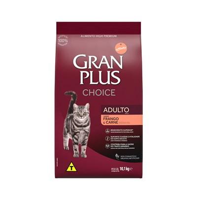 Ração GranPlus Choice gatos adultos frango e carne 10,1kg