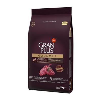 Ração GranPlus Gourmet cachorro adultos raças médias e grandes ovelha e arroz 15,0kg