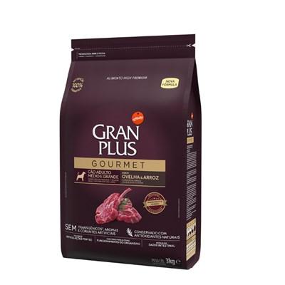 Ração GranPlus Gourmet cachorro adultos raças médias e grandes ovelha e arroz 3,0kg