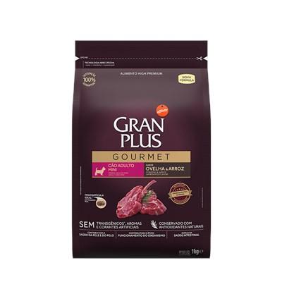 Ração GranPlus Gourmet cachorros adultos mini ovelha e arroz 1,0kg