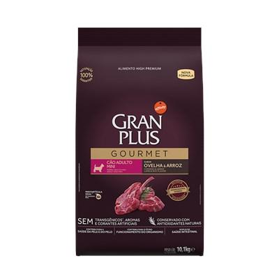 Ração GranPlus Gourmet cachorros adultos mini ovelha e arroz 10,1kg