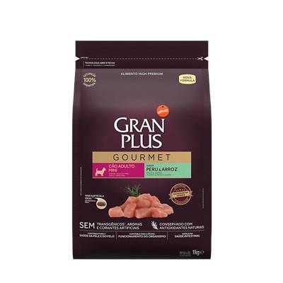 Ração GranPlus Gourmet cachorros adultos mini peru e arroz1,0kg