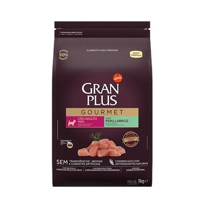 Ração GranPlus Gourmet cachorros adultos mini peru e arroz3,0kg