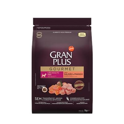 Ração GranPlus Gourmet cachorros adultos mini salmão e frango 1,0kg