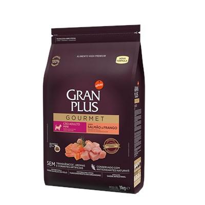 Ração GranPlus Gourmet cachorros adultos mini salmão e frango 3,0kg