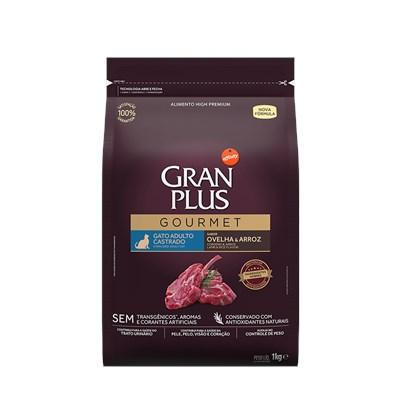 Ração GranPlus Gourmet gatos adultos castrados ovelha e arroz 1,0kg