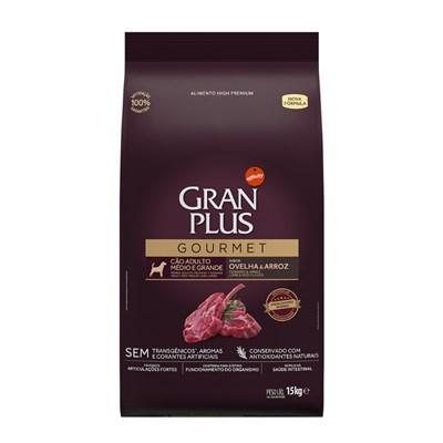 Ração Granplus Gourmet para Cães Adultos de Raças Médias e Grandes Ovelha e Arroz 15kg