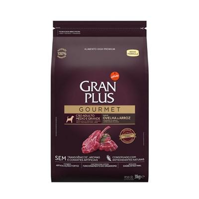 Ração Granplus Gourmet para Cães Adultos de Raças Médias e Grandes Ovelha e Arroz 3kg