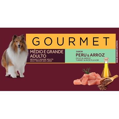 Ração Granplus Gourmet para Cães Adultos de Raças Médias e Grandes Peru e Arroz 15kg