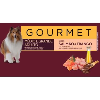 Ração Granplus Gourmet para Cães Adultos de Raças Médias e Grandes Salmão e Frango 15kg