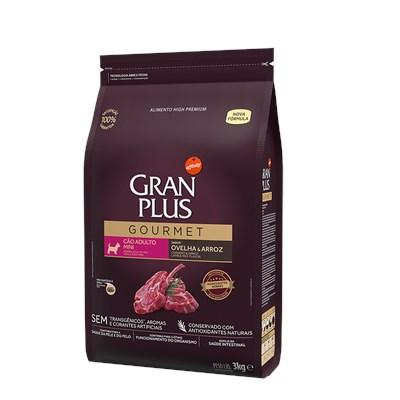 Ração Granplus Gourmet para Cães Adultos de Raças Pequenas Ovelha e Arroz 3kg