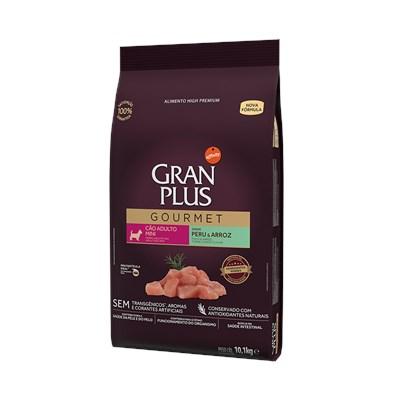 Ração Granplus Gourmet para Cães Adultos de Raças Pequenas Peru e Arroz 10,1 kg