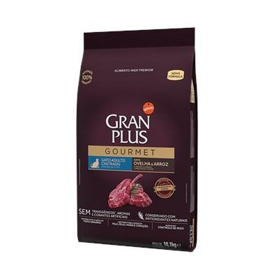 Ração Granplus Gourmet para Gatos Adultos Castrados Ovelha e Arroz 10,1 kg