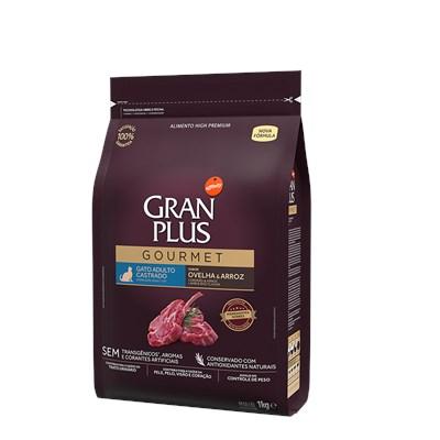 Ração Granplus Gourmet para Gatos Adultos Castrados Ovelha e Arroz 1kg
