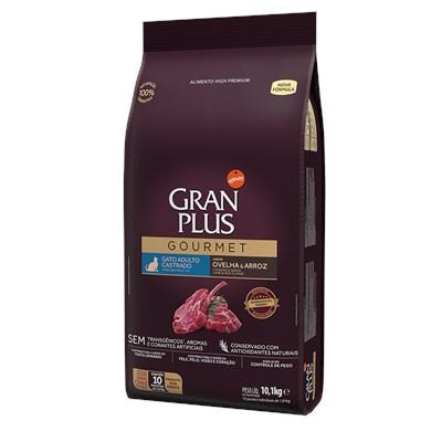 Ração Granplus Gourmet para Gatos Adultos Castrados Ovelha e Arroz Individual 10kg