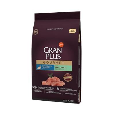 Ração Granplus Gourmet para Gatos Adultos Castrados Peru e Arroz 10,1 kg